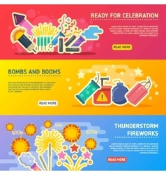 Holiday fire crackers show set of business vector