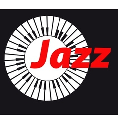 Jazz keyboard on dark background a vector