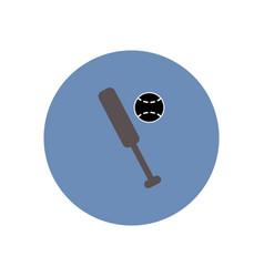 stylish icon in color circle ball baseball bat vector image