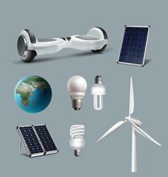 renewable energy set vector image
