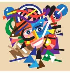 abstract face vector image