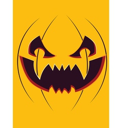 Scary pumpkin face vector