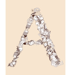 A school alphabet letter vector
