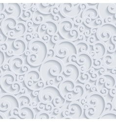 3d floral damask seamless pattern vector
