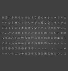 Collection of icons hand-drawn effect vector