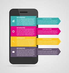 Modern design creative infographic with mobile vector