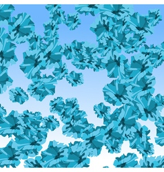 Background abstract blue flowers vector