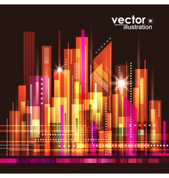 Abstract cityscape background vector