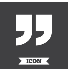 Quote sign icon quotation mark symbol vector