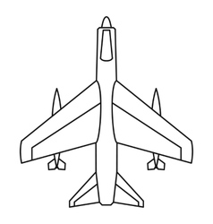 Armed fighter jet icon outline style vector