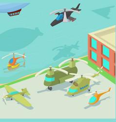 Aviation airport concept cartoon style vector