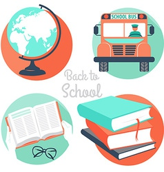back to school icons vector image vector image