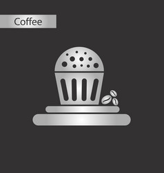black and white style icon chocolate cake vector image