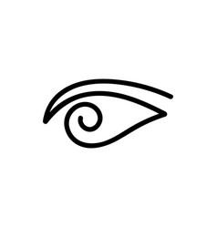 Black eye doodle logo vector
