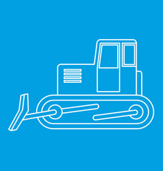Bulldozer icon outline vector