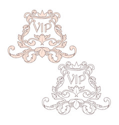 calligraphic baroque ornament is suitable for vector image
