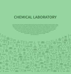 Chemical laboratory equipment brochure template vector