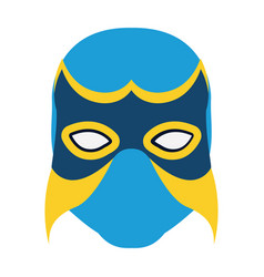 Colorful silhouette with wrestler mask vector