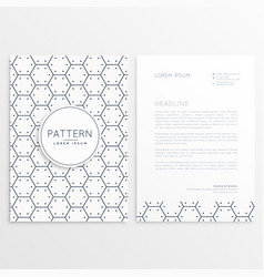 Company brochure with minimal pattern vector