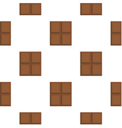 Dark milk chocolate bar pattern flat vector