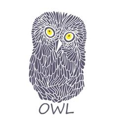 Doodle owl vector image