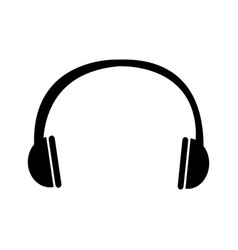 earphone sound isolated icon vector image vector image