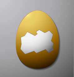 Easter egg without the shell in the middle gray vector