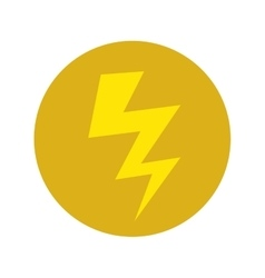 Energy bolt icon vector
