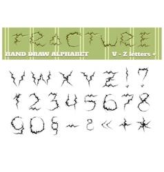 Fracture alphabet part two vector