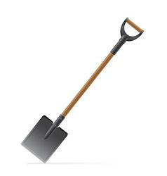 garden tool shovel 02 vector image