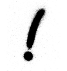 Graffiti exclamation mark in black over white vector