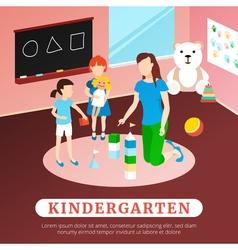 Kindergarten poster vector
