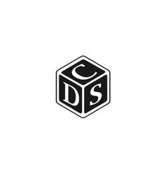 Letter dsc dcs csd cds logo vector