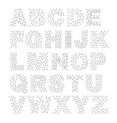 line network alphabet vector image vector image