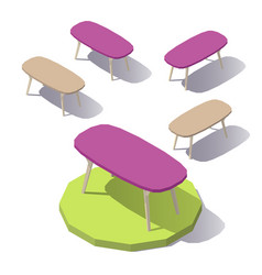 lowpoly office table vector image vector image