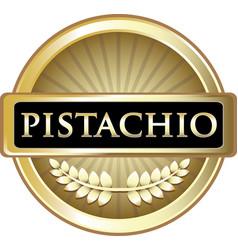 pistachio gold icon vector image
