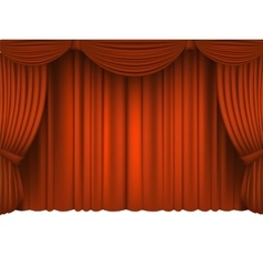 Red draped theater vector