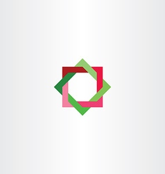 red green abstract square star tech logo business vector image vector image