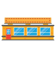 Retro style local grocery market shop vector