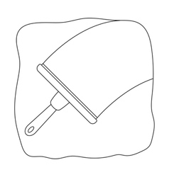 Squeegee icon in outline style isolated on white vector
