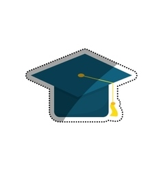 Student graduation hat vector