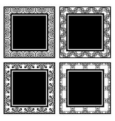 Vintage ornamental frames vector