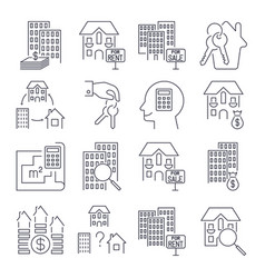 web icon set real estate property realtor keys vector image