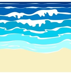 Ocean with waves vector