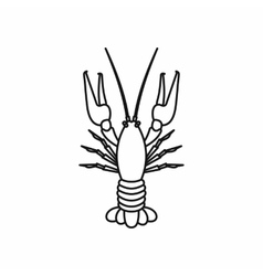 Boiled crawfish icon outline style vector image