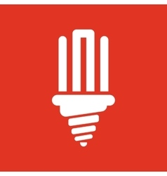 The fluorescent light bulb icon lamp and bulb vector