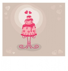 Cake lovers vector