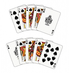royal flush spade vector image