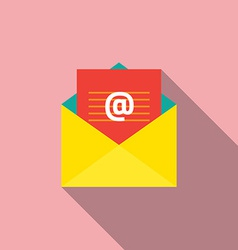 Flat design e-mail icon vector