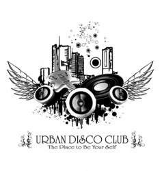 urban discoteque vector image